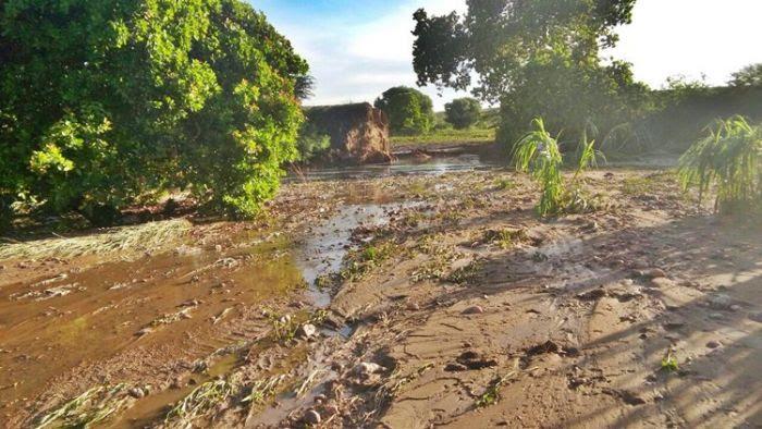 Em Jardim do Seridó, barragem não resiste à força das águas na zona rural