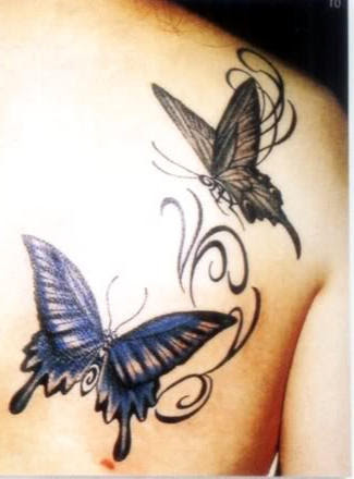 Black Butterfly Tattoo Designs Back Shoulder Tattoomagz