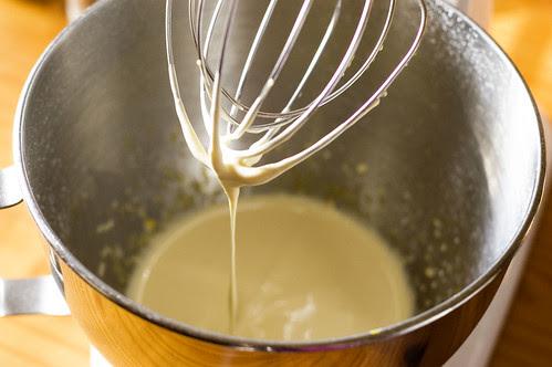 dobos torte - beaten egg yolks and sugar
