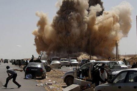 Carnage inflicted by the US-led bombing campaign against the North African state of Libya. Washington had mobilized a host of other imperialist governments and their allies to plot regime-change in this oil-producing country. by Pan-African News Wire File Photos