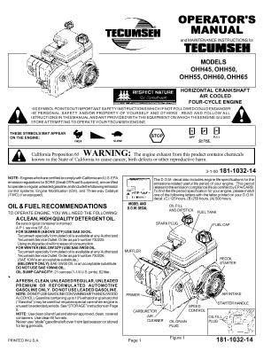 Tecumseh Ohh65 Manual - essentialsfreesoft