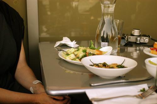 Heidi's lunch at Il Cane Rosso