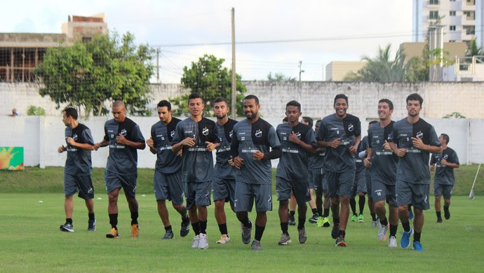 ABC jogadores treino CT Alberi Ferreira de Matos (Foto: Andrei Torres/Divulgação)