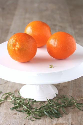pre-orange and rosemary cake