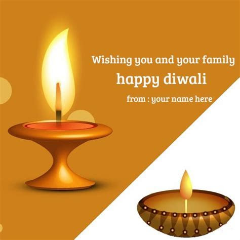 name on happy diwali wishes you your family greeting