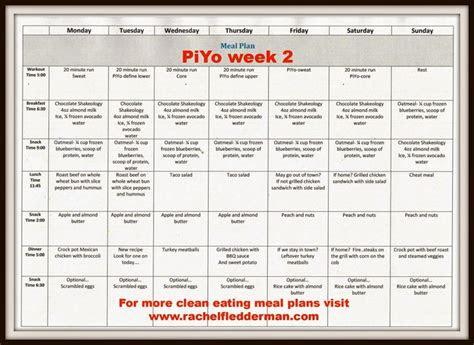 piyo week  meal plan healthy eating pinterest meals