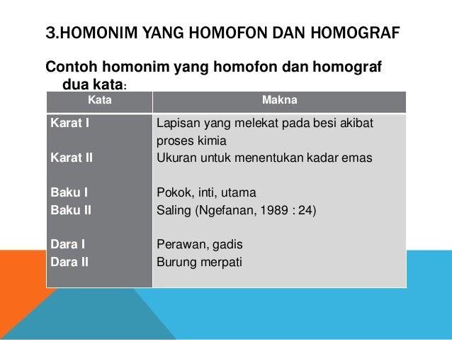 Contoh Kalimat Homonim Yang Homograf Canda Toh