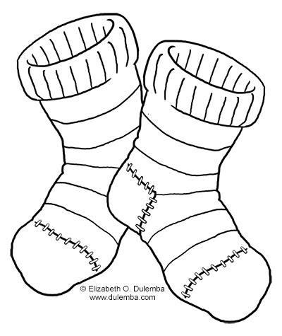 picture of socks coloring pages - photo#12