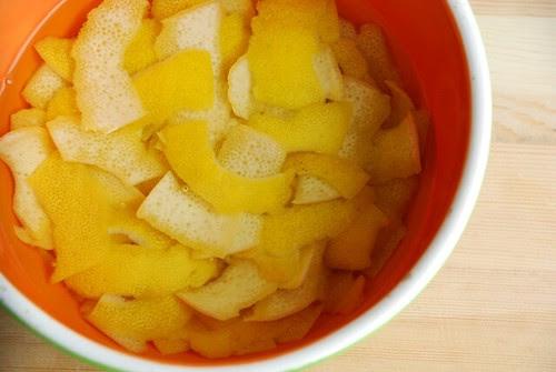 lemon rinds soaking