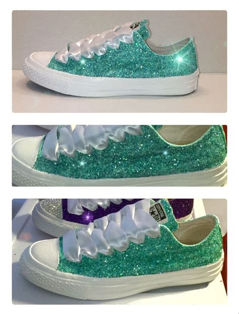 womens converse  star shoes handmade sparkly glitter