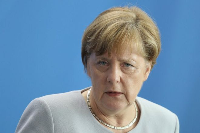 German Chancellor Angela Merkel in Berlin, 27 June