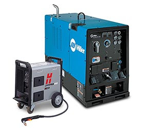 Miller Big Blue Air Pak Deluxe Cc Cv Ac Dc 20 Kw Diesel Engine Welders Red D Arc Welderentals