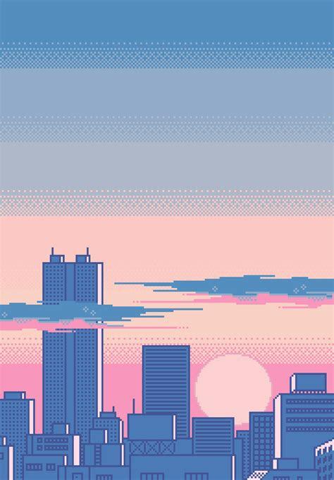 tumblr source pixelotta cityscapes pixel art