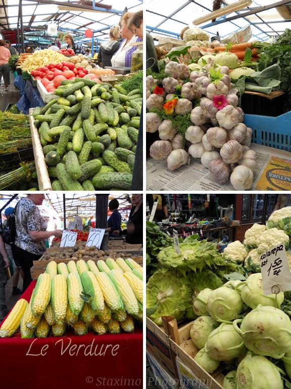 Cracovia: le verdure nei mercati