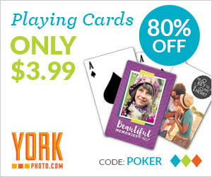 Custom Photo Playing Cards  – Only $3.99 – Save $16!
