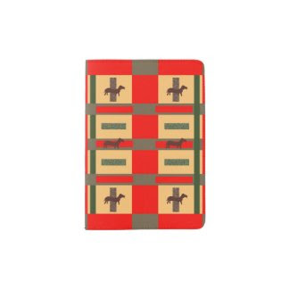 Art Deco Style Dachshund Design on Passport Cover Passport Holder