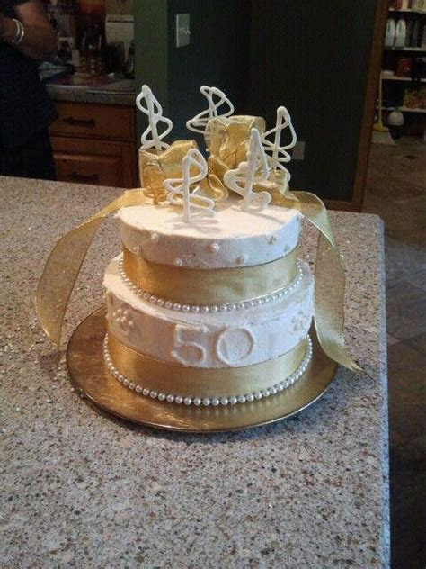 50th Anniversary Cake   Custom Confections for