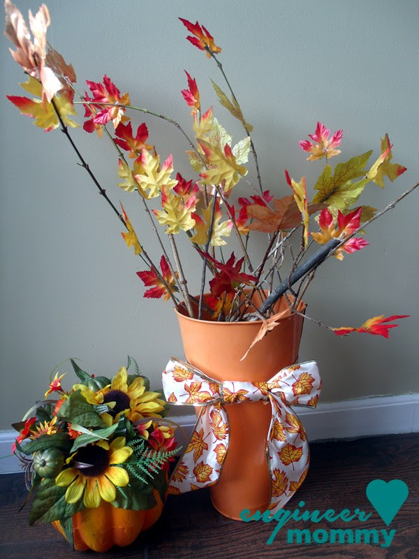 Fall DIY: Leaf & Branch Centerpiece