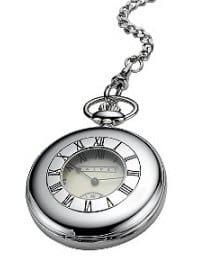 Dalvey Half Hunter Stainless Steel Mechanical Pocket Watch
