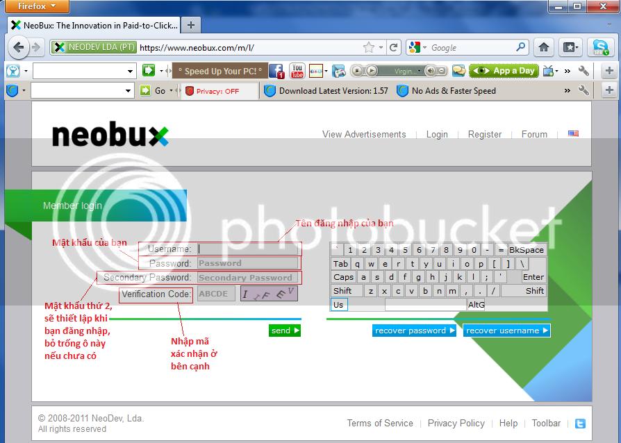 Đăng kí và chiến thuật kiếm tiền ở Neobux (chi tiết) 100% thành công