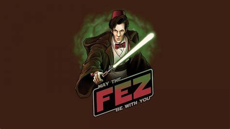 Star wars may eleventh doctor who fez wallpaper   (39755)