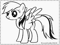 Gambar Gambar Rainbow Dash Menggambar Mewarnai Kartun Kuda Poni Anak