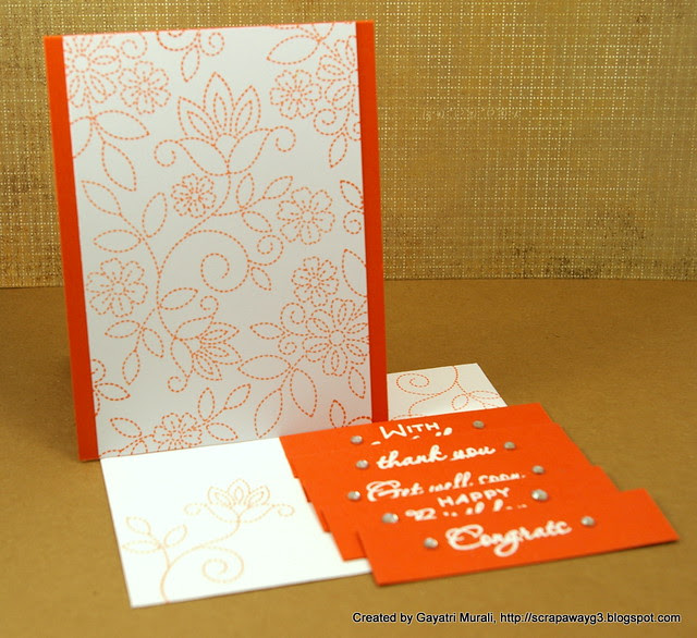 Orange card set