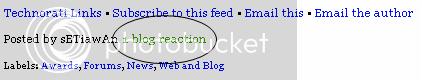 Tips Membuat Blog Reaction Disetiap Posting Artikel Blogger