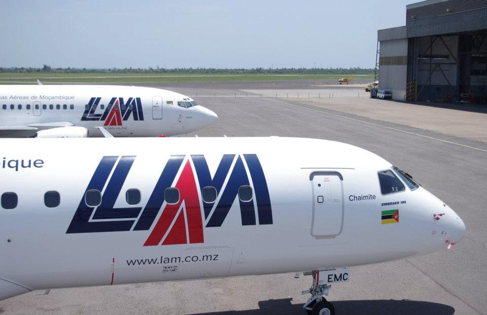 The two aircraft in Maputo