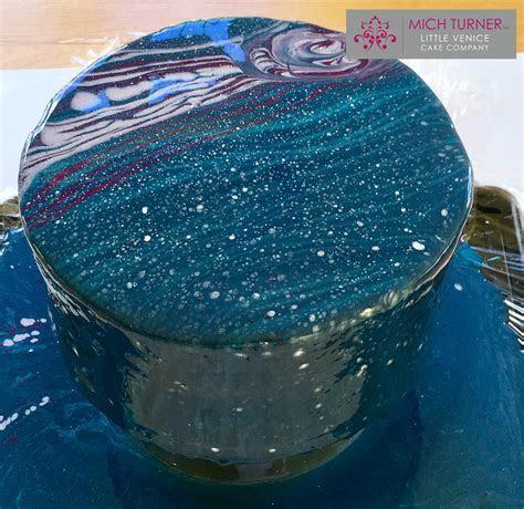 Galaxy Mirror Glaze Cake   Create and Craft
