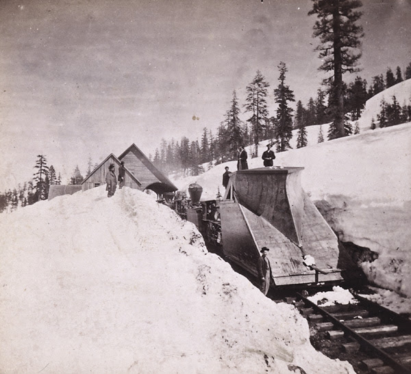 Houseworth 1263. Snow Plow of the Central Pacific Railroad Co. Near Cisco.