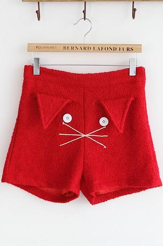 Cartoon-Cat-Face-Shorts