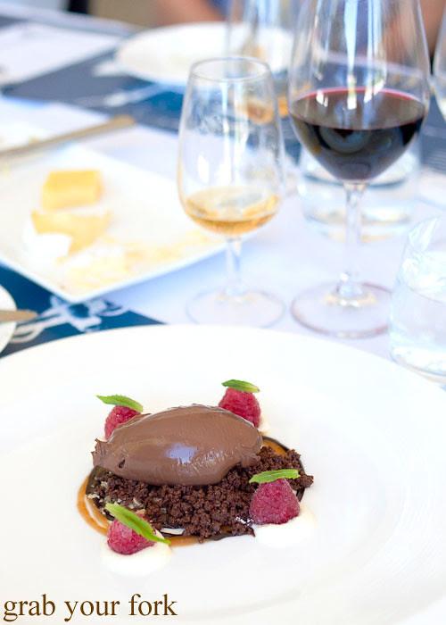 chocolate delice dessert at Margan Wines in Broke, Hunter Valley