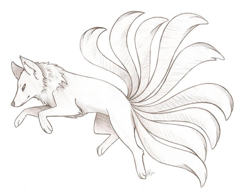 Nine Tailed Fox by angelnablackrobe on DeviantArt