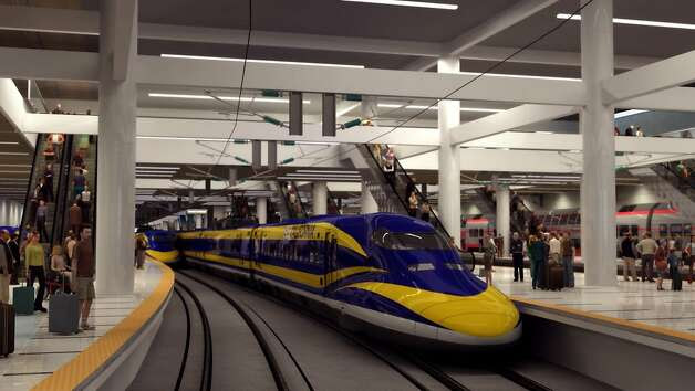 This interior view of Transbay Terminal shows how high speed rail would operate in a large transit oriented station. Photo: Nc3d, Courtesy To The Chronicle / SF