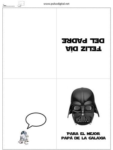 Tarjeta de felicitación para el día del padre [Star Wars]