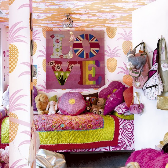 Colourful child's bedroom | Kids' bedrooms | Children's wallpaper | Image | Housetohome