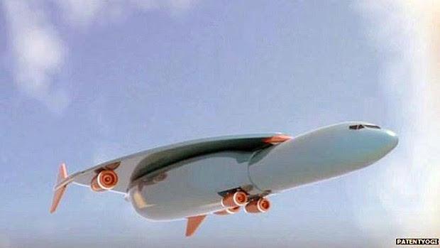 Esta será a aparência do Concorde 2.0 hipersônico caso ele chegue a ser produzido algum dia  (Foto: Patentyogi/ BBC)