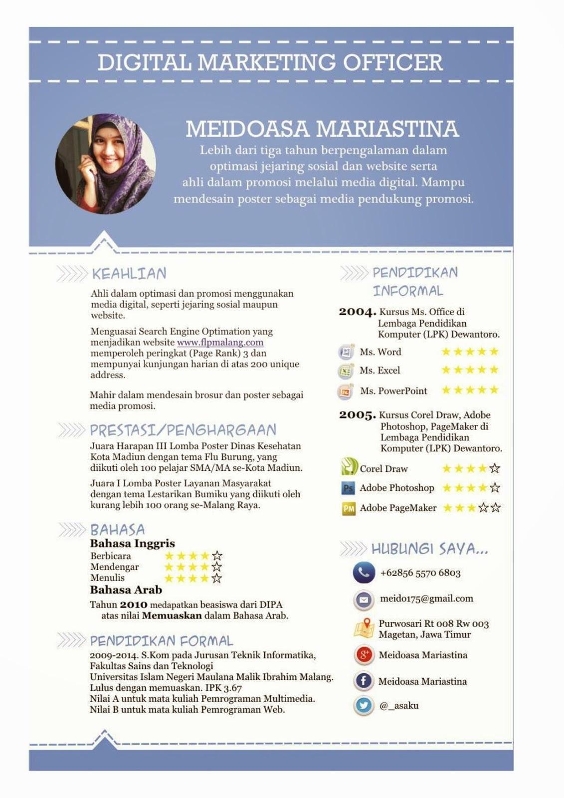 Contoh Cv Yang Bagus Bahasa Inggris Best Resume Examples
