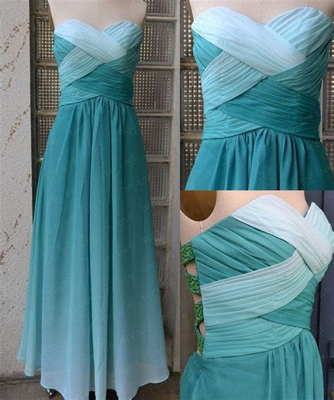 DIY Ombre Prom Dress,Custom Made Prom Dresses,Sexy Prom
