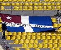 Η κρητική σημαία στο Παγκρήτιο στάδιο
