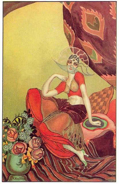 M. Montedoro, Art Deco postcard 1, 1920s