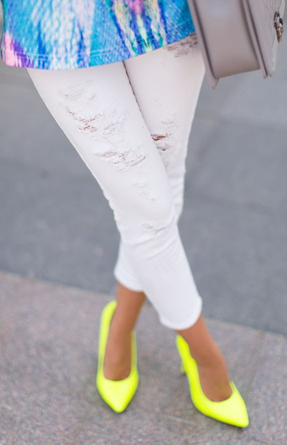 Missguided Neon Citrus Pointy Toe Stilettos by Styled Avenue