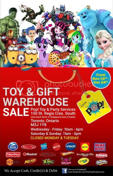 Pop! Toy Warehouse Sale Toronto