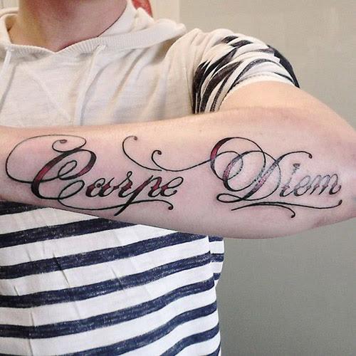 Tatuaje Carpe Diem Hombre Sfb