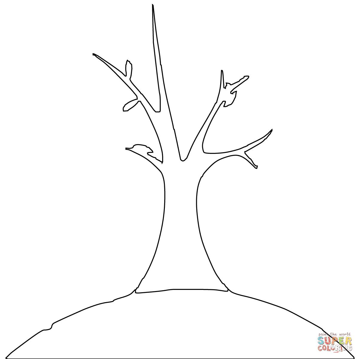 Dibujo De Esquema De árbol Muerto Para Colorear Dibujos Para