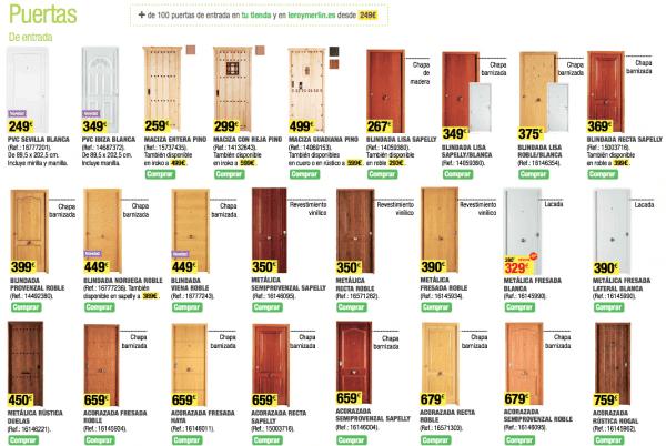 C mo decorar la casa precio puertas interior leroy merlin Precio puertas de paso
