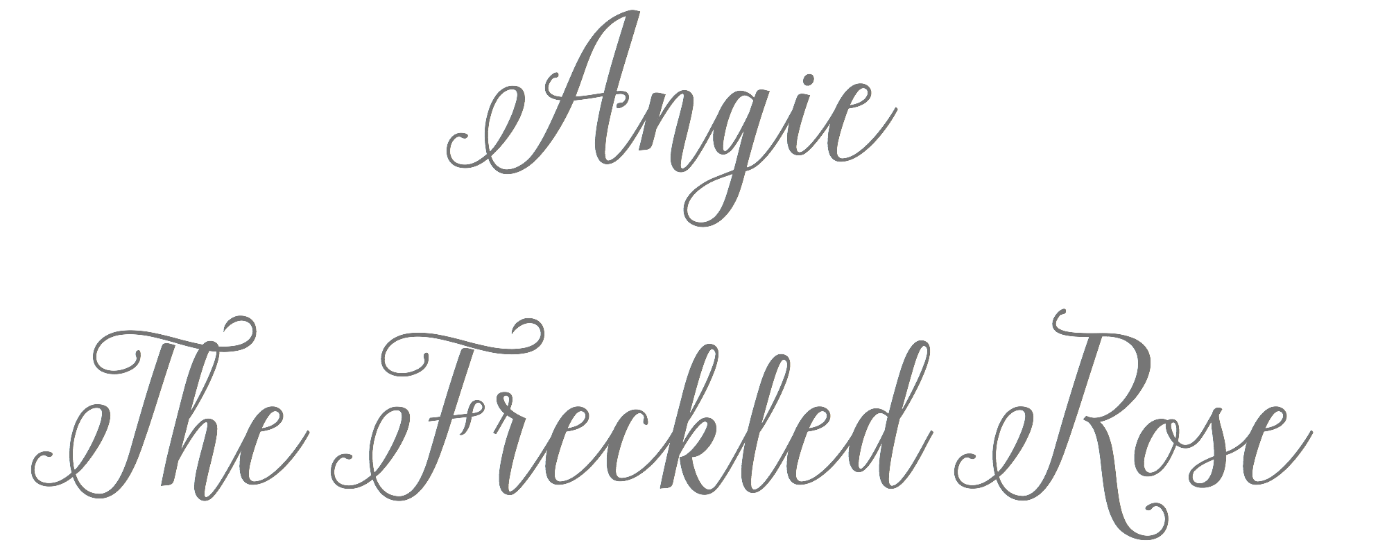 Angie The Freckled Rose Logo | angiethefreckledrose.com