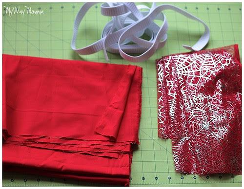 MWM Red 2 tier Halloween Skirt Oct 2012 31