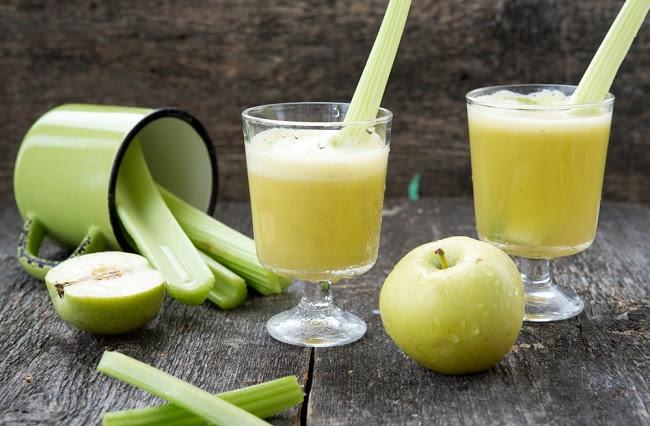 Resultado de imagen para Pepino, apio y jugo de manzana